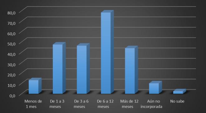 Gráfico Mujeres de 16 a 64 años que han tomado excedencia a tiempo completo para cuidar un hijo. España 2010.